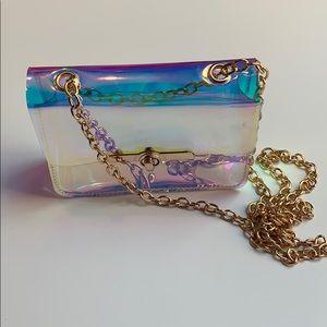 Handbags - Transparent Hologram Crossbody